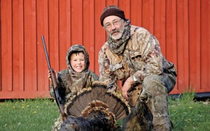 Hugh with his Grandpa Bob after Hugh shot his spring turkey this year.