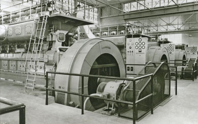 The interior of Wolverine's power plant in Hersey. The units shown have been decommissioned and removed from the plant.