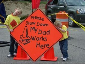 Slow Down, Go Around Roadside Utility Workers
