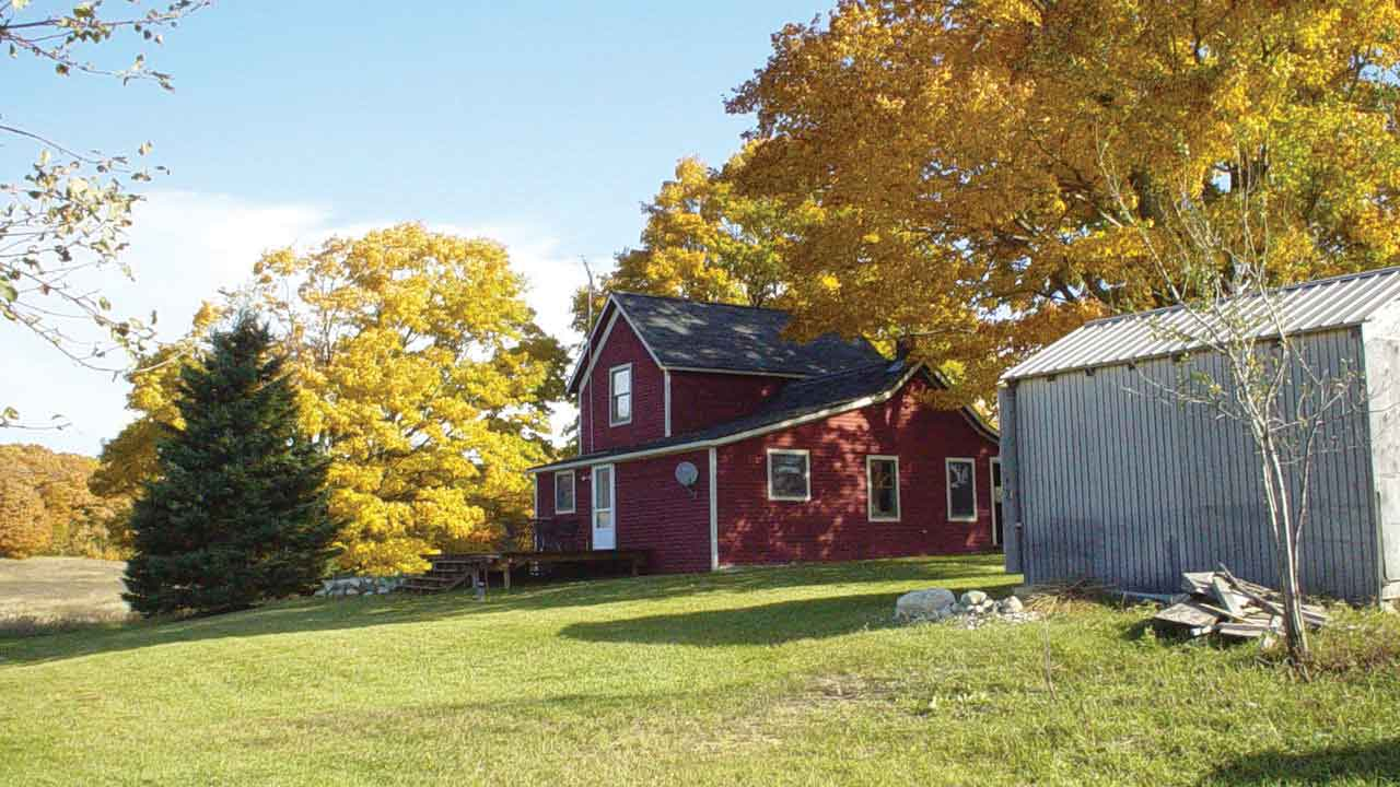 The red farmhouse history michigan country lines magazine