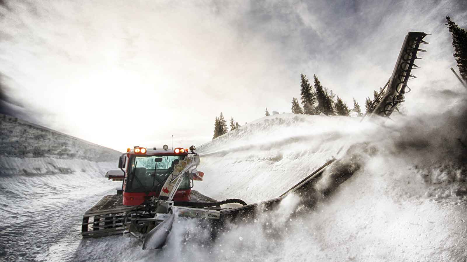 The Zaugg pipe monster is the machine used to rough carve the super-pipe at Colorado's Copper Mountain.