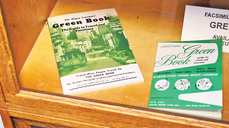 The Green Book, subject of a recent major motion picture, is currently on display at the museum. The book provided African Americans with safe travel guidance during the civil rights era.