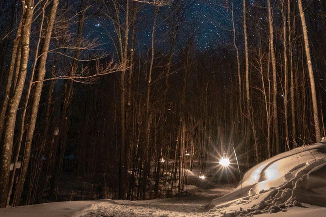 Porcupine Mountains lantern lit ski trail